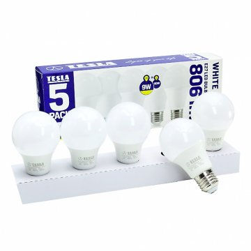 LED žárovka E27 Tesla BL271030-5PACK 9W 5ks