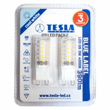 LED žárovka G9 Tesla G9000340-PACK2 3W 2ks