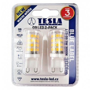 LED žárovka G9 Tesla G9000330-PACK2 3W 2ks