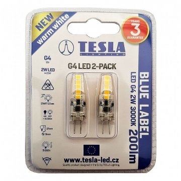 LED žárovka G4 Tesla G4000230-PACK2 2W 2ks
